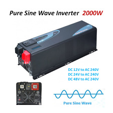 Pure Sine Wave Power Inverter 2000W/3000W  12V/24V/48V DC to 240V AC off Grid