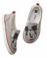 NWT Baby Gap DISNEY COLLECTION Gray Canvas MICKEY MOUSE Slip on SHOES Sz 9 OR 10