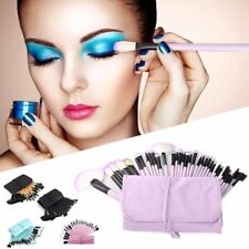 32PCS Cosmetic Make Up Makeup Brushes Brush Set Kit Goat Hair with Leather Case
