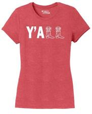 Ladies Y'ALL Cute Western Southern Country Cowgirl Cowboy Boots Shirt Tri-Blend