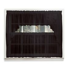 Emelia Sheer Voile Kitchen Curtain - Black Tiers, Swags, Valances - NEW !