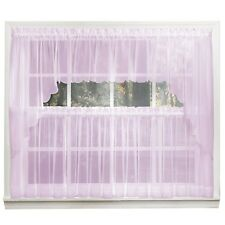 Emelia Sheer Voile Kitchen Curtain - Lilac Tiers, Swags, Valances - NEW !