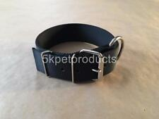 "LARGE DOG COLLAR 2"" WIDE DOUBLE PLY NYLON HEAVY DUTY PIT BULL, BIG DOG COLLAR"