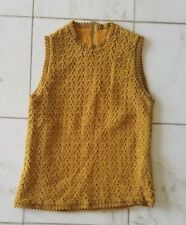 Vintage Womans Tank Mustard Yellow
