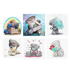 Cute Bear 5D Diamond Embroidery Rhinestone Cross Stitch Painting Home Decor