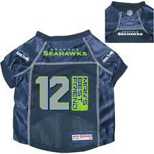 NEW SEATTLE SEAHAWKS PET DOG PREMIUM NFL 12th MAN'S BEST FRIEND JERSEY w/NAME TG