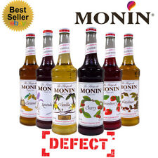 Monin 1L Plastic Bottle Syrups - Coffee and Cocktails - USED BY COSTA - DEFECT