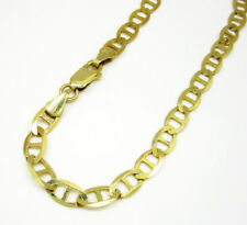 """2.5MM - 7.5MM 10K Yellow Gold Mariner Link Chain Bracelet 7"""" - 9"""" Inches"""