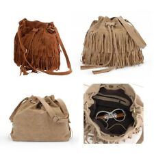 Ladies Women Fringe Tassel Shoulder Bag Crossbody Bag Messenger Handbag Satchel
