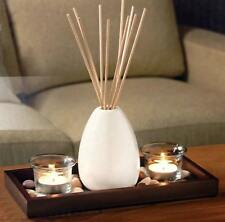 Reed Diffuser & Candle Set Jasmine OR Vanilla Tealights Candles Oil & Reeds NEW