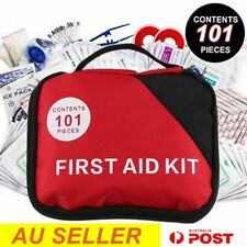 101 piece First Aid Kit Family Supplies Survival Medical Workplace Travel AU