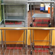 Stainless Steel Work Table | Food Prep NSF | Utility Work Station | In All Sizes