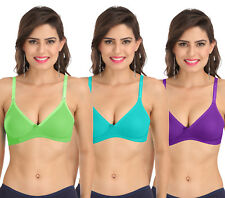 Women Push Up Sexy Bras Set,Non-Wired Full Cup Cotton Bra Free Transparent Strap