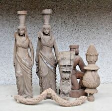 BEAUTIFUL SELECTION OF HAND CARVED WOODEN EGYPT MIX MALE GOTHIC CARVINGS