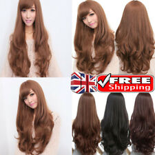 UK Women Full Wigs Long Wavy Curly Hair Party Costume Hair Fashion Cosplay Dress