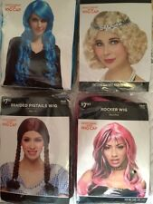 Womens Adult Costume Wigs * New * Various Styles *