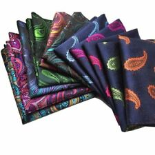 GUSLESON Vintage Men's Paisley Handkerchief Floral Pocket Square Business Chest
