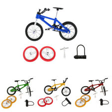 Alloy Finger Bike BMX Mountain Bicycle Diecast Model Kids Toy w/ 2x Spare Tires
