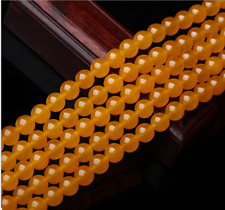 """4/6/8/10/12mm Natural Brazil Topaz Gemstones Round Loose Beads 15""""AAA"""