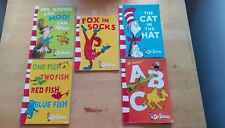 DR. SEUSS - 5 KID'S BOOKS (Cat in the Hat, plus others)