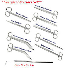 Surgical Scissors set Crown, Kelly, Lister Bandage,Operating, Iris, Mayo Scissor