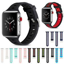 For Apple Watch iWatch Series 3/2/1 38/42 Replacement Silicone Sport Band Strap