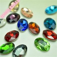 Wholesale Oval Rhinestones Point back Mixed Colors Crystal Glass Strass U1