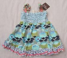 MATILDA JANE girls 2 4 blue green funhouse sleeveless tunic top NEW