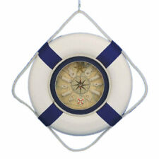 Handcrafted Nautical Decor Decorative Lifering 18'' Clock with Bands