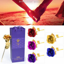 2018 New 24K Gold Plated Rose Flower Valentine's Day Birthday Romantic Gifts+Box