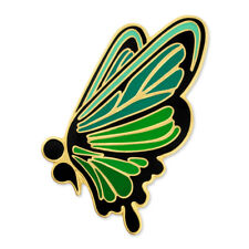PinMarts Green Semicolon Butterfly Mental Health Suicide Prevention Lapel Pin