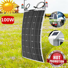 100W 18V Semi Flexible Solar Panel Off Grid Battery Power Charger For RV Boat CF