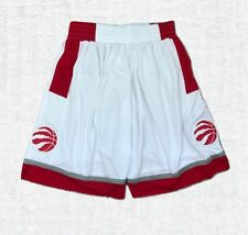 Toronto Raptors White Stitched Sewn Basketball Shorts New with Tag