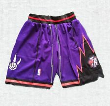 Toronto Raptors Purple Stitched Sewn Basketball Athletic Shorts NWT