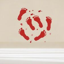 2pcs Horrible Scary Removable Bloody Handprints Wall Sticker for Halloween Party