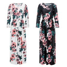 #QZO Lady European Fashion Bohemian Print Long Dress