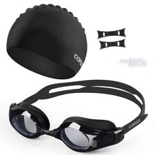 Myopia Swimming Goggles Silicone Cap Ear Plug Suit Waterproof Swim Glasses Anti-