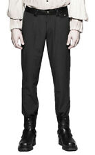 Black pants man stripes fine white, elegant aristocrat ste Punk Rave