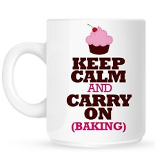 Mug Keep Calm And Carry On Baking White