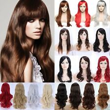 Us Stock Long Hair Cosplay Wig Full Head Wigs With Bangs For Women Girls Dress