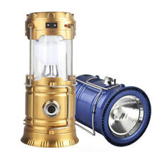 Solar Power Rechargeable LED Flashlight Outdoor Camping Tent Light Lantern Lamp