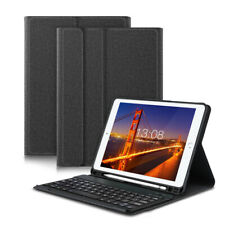 """Bluetooth Keyboard Stand Case +Pencil Holder For iPad 9.7"""" 2018/2017 Air 1/Air 2"""