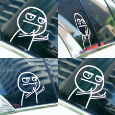 Cartoon JDM Funny Middle Finger Reflective Vinyl Car Sticker Motorcycle Decal