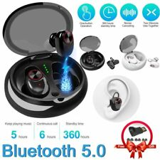 Wireless Earbud TWS Mini True Bluetooth 5.0 Stereo Earphone Bass Headset