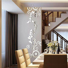Creative Circle Ring Acrylic Mirror Wall Stickers 3D Home Room Decor Decals NEW