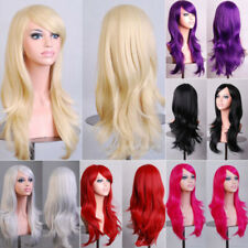 New Synthetic Hair Full Wig Glueless Heat Resistant Long Straight Curly Wave Hg