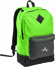 Monogrammed Neon Green Retro Backpack with Embroidered Initial