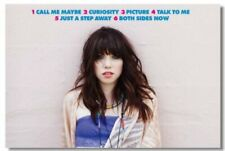 Poster Carly Rae Jepsen Call Me Maybe Art Wall Cloth Print 208