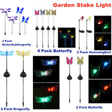 LED Solar Garden Stake Light Color-Changing Butterfly, Dragonfly Garden Decor