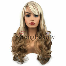 Long Curly Wavy Ombre Hair Wig Ombre Blonde Brown Synthetic Full Wigs for Women